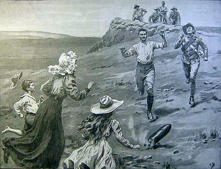 Frank Dadd: Racing after a spent shell Frank Dadd - Siege of Mafeking 1899 - 1900 - Racing after a spent shell.jpg
