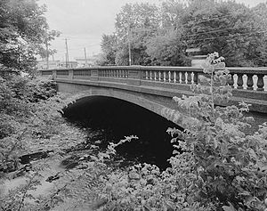 Torresdale, Philadelphia - The Frankford Avenue bridge over the Poquessing Creek bordering Torresdale