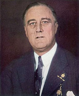 January 1933 color photo of Franklin D. Roosevelt as the Man of the Year of Time Franklin D. Roosevelt TIME Man of the Year 1933 color photo.jpg