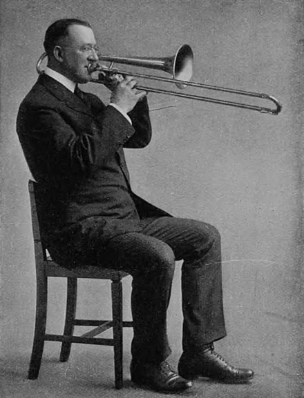 zugtabelle posaune mit quartventil violinschlüssel