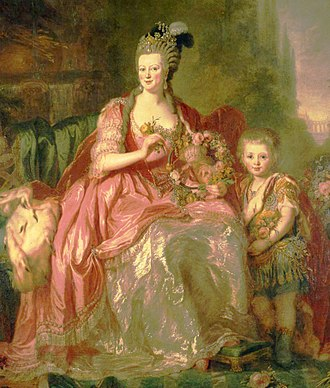 Frederick William III of Prussia - Friedrich Wilhelm and his mother (1775)