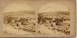 Frith, Francis (1822-1898) - Views in the Holy Land - n. 428 - Hebron. Northern Half of the City - recto