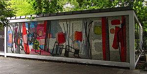 Fritz Winter - Image: Fritz Winter, ohne Titel (1958), Glasmosaik am U Bahnhof Hansaplatz, Berlin