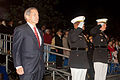 From left, Sloan Gibson, the president of the USO and Evening Parade guest of honor; U.S. Marine Corps Lt. Gen. Willie J. Williams, the director of Marine Corps Staff and parade host; and Col. Christian 130524-M-MM982-279.jpg