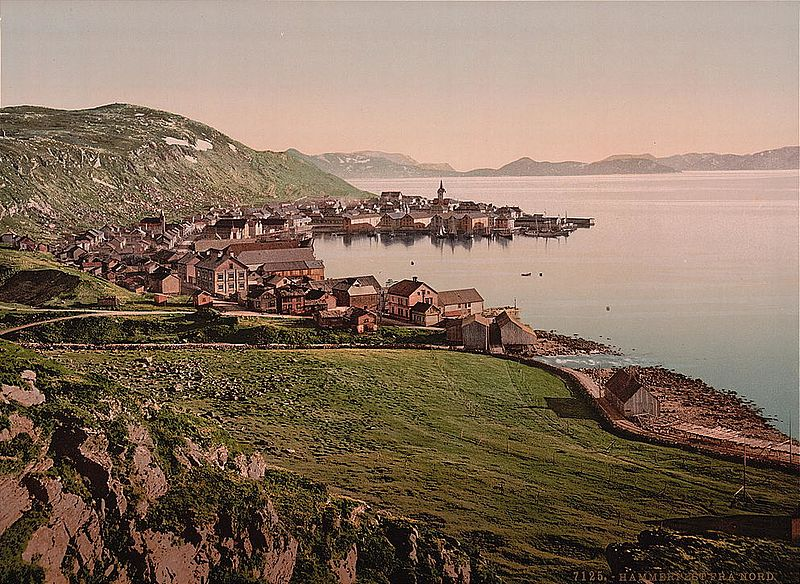 Fil:From the north, Hammerfest, Norway.jpg