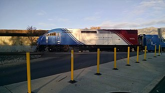 FrontRunner - Front Runner crossing West Gentile in Layton, Utah.