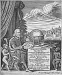 "Frontispiece of ""Introductio in Universam Geographiam"" by Philipp Clüver, 1686.jpg"