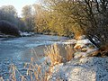 Frosty riverbank, Camowen River - geograph.org.uk - 1653263.jpg