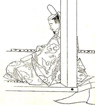 Fujiwara no Kaneie - Fujiwara no Kaneie by Kikuchi Yōsai