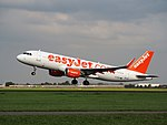 G-EZOA easyJet Airbus A320-214(WL), takeoff from Schiphol (EHAM-AMS) runway 36L pic2.JPG