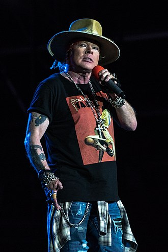 Axl Rose - Rose performing at the Silesian Stadium in 2018