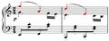 Gade, Drei kleine Clavierstücke, no. 3, Alla marcia, mm.20-21.png