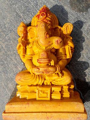Ganesha Idol(Wooden) at Visakhapatnam.JPG