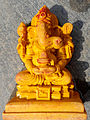 Ganesha Idol(Wooden) at Visakhapatnam.JPG