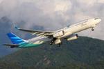 Garuda Indonesia A330-300 PK-GPG HKG 2012-7-18.png
