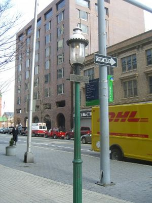 Gas lighting - Baltimore First U.S. Street Gas Light