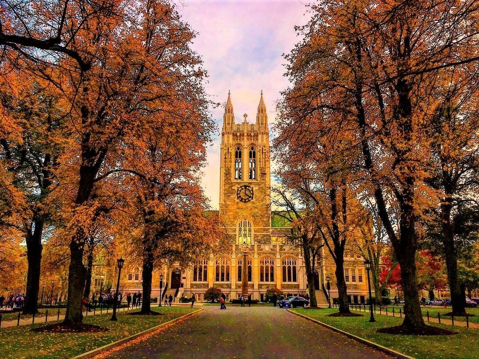 Gasson Hall in Autumn