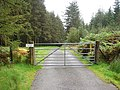 Gated road in Cwmerfyn - geograph.org.uk - 935645.jpg
