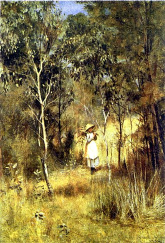 Box Hill artists' camp - Image: Gathering Mistletoe (Frederick Mc Cubbin)