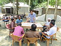 Gathering in a meeting of villagers in an Bangladeshi village 2015 30.jpg