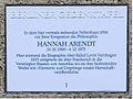 Gedenktafel Opitzstr 6 (Stegl) Hannah Arendt.JPG