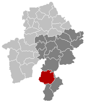 Gedinne - Image: Gedinne Namur Belgium Map