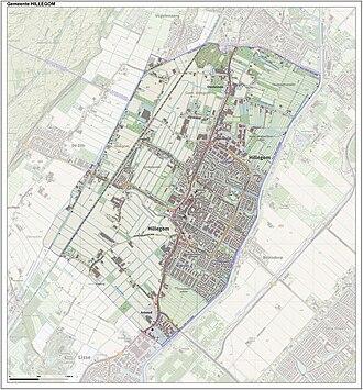 Hillegom - Dutch Topographic map of Hillegom, June 2015