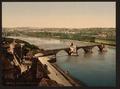 General view and Benezech Bridge, Avignon, Provence, France-LCCN2001698584.tif