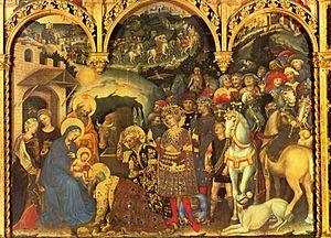 Klanění tří králů od Gentila de Fabriana