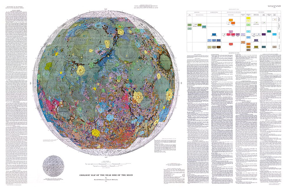 Geologic Map of the Near Side of the Moon
