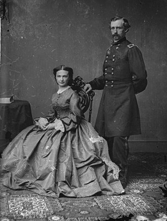 1860s in Western fashion - Gen. George Armstrong Custer and his wife, Elizabeth Bacon Custer in the early 1860s