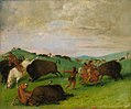 George Catlin - Buffalo Chase, Bulls Making Battle with Men and Horses - 1985.66.413 - Smithsonian American Art Museum.jpg