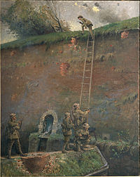 George Edmund Butler -The scaling of the walls of Le Quesnoy.jpg