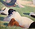 Georges seurat, bagnanti ad asnières, 1884, 03 cane.jpg