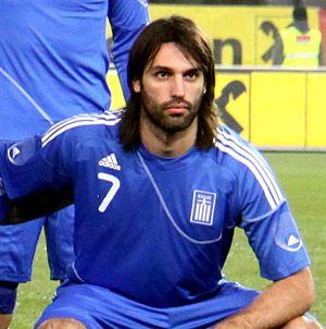 Georgios Samaras - Samaras lining up for Greece in November 2010