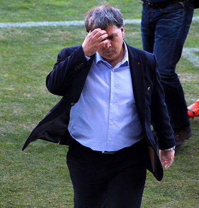 Gerardo Martino became the new coach as of January 2007. Gerardo Martino (marzo de 2014).jpg