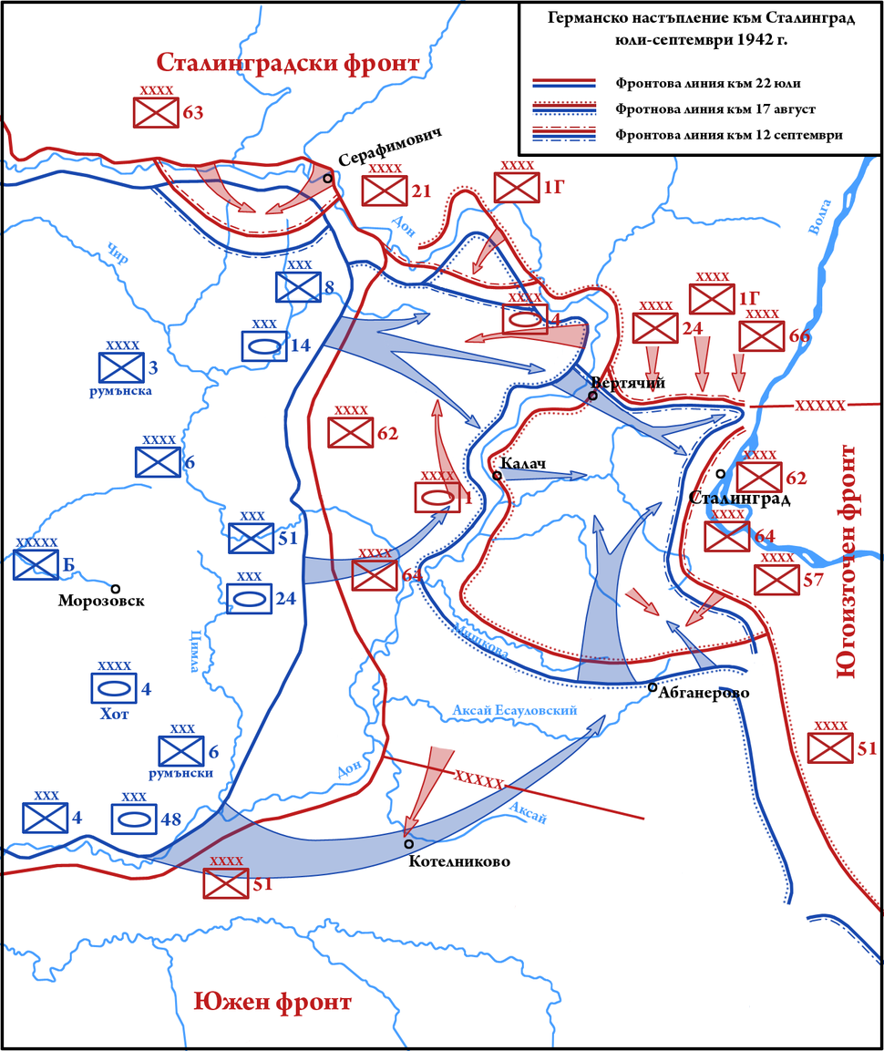 German Summer Offensive Towards Stalingrad July-September 1942 (simplified)