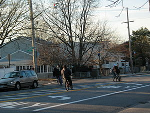 Gerritsen Beach, Brooklyn - Bikers on Gerritsen Avenue