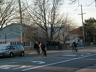 Gerritsen Beach, Brooklyn - Bikers on Gerritsen Avenue