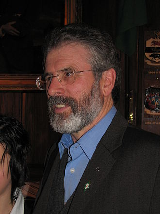 Gerry Adams - Adams wearing an Easter Lily