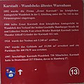 Geschichtstafel zu Karstadt in Hamburg-Wandsbek.JPG