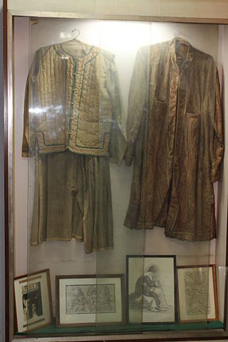 Ghalib - Clothes of Mirza Ghalib, at Ghalib Museum, New Delhi