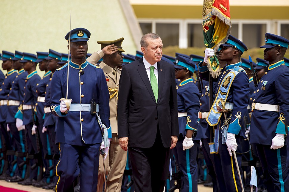 Ghana Airforce Reccep Tayyip Erdogan Honor Guard at Flagstaff House