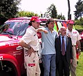 Gianni Lora Lamia-Massimo Giletti-Emilio Giletti 2001 Season Nissan Motorsport Team Presentation-.jpg