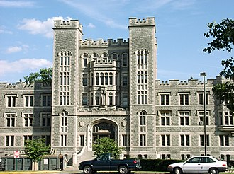 Catholic University of America - Gibbons Hall (built in 1911), a residence hall
