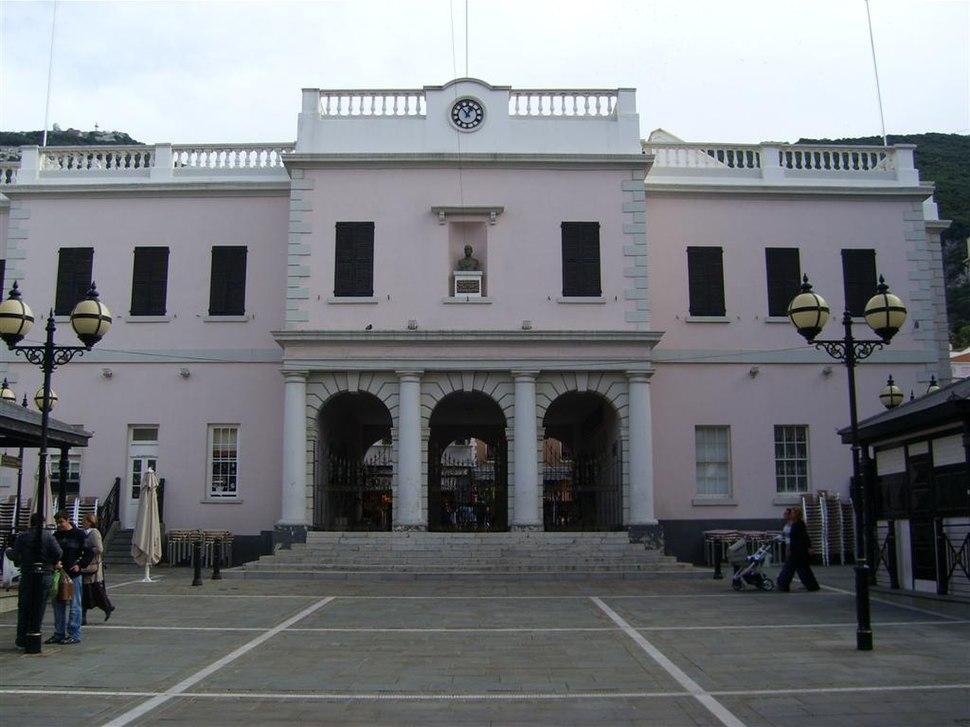 Gibraltar Parliament at dusk