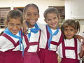 Girls in School Uniform - Near Pinar del Rio - Cuba.JPG