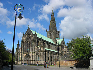 Glasgow Cathedral - Glasgow Cathedral with Cathedral Square