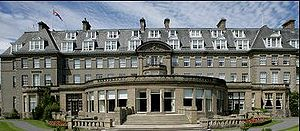 Gleneagles Hotel - The facade of the hotel