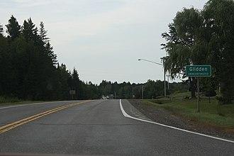 Glidden, Wisconsin - Image: Glidden Wisconsin Sign WIS13
